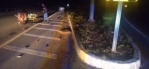 3 tekerlekli motosiklet devrildi: 2 yaralı