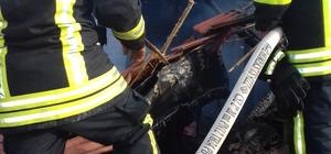 Denizli'de bir evin çatı katında yangın çıktı