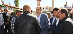 Başkan Altay Derbent ve Hüyük'te incelemelerde bulundu