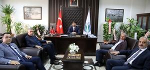 Başkan Toçoğlu, SUBÜ Rektörü Sarıbıyık'ı ziyaret etti
