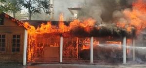 Çankırı'yı korkutan yangın Eski hastane kantini alevlere teslim oldu
