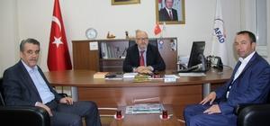 """AFAD-Sen Genel Başkanı Çelik: """"AFAD çalışanlarının şartları cazip hale getirilmelidir"""" AFAD-Sen Genel Başkanı Ayhan Çelik ve Genel Başkan Yardımcısı Akşit Dayı Giresun AFAD İl Müdürlüğü'ne ziyarette bulundular"""