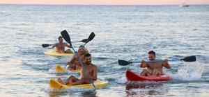Arsuz'da DOĞAKA projesiyle tatilcilere su sporları kursu