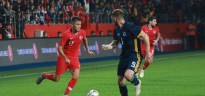 Hazırlık maçı: Türkiye: 0 - Bosna Hersek: 0 (İlk yarı)