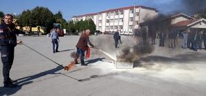 Özel idare personeline  yangın eğitimi
