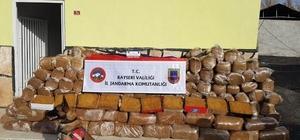 Jandarma 6 ton kaçak tütün ele geçirdi