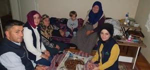 Alo Evlat ekibinden Safiye anneye ziyaret