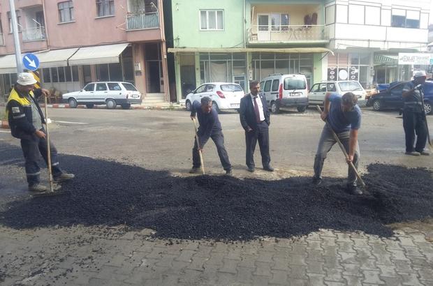 Cadde ve sokaklara asfalt yama