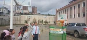 17 okula 'Çöpe Atma Basket At Projesi' kurulumu yapıldı