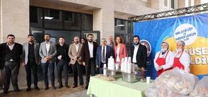 Başkan Baran'dan öğrencilere çorba ikramı