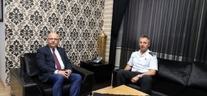 Jandarma Komutanı Hamza Çömez'den Başkan Çoban'a ziyaret