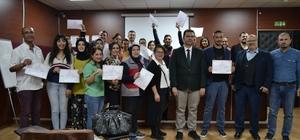 Sağlıkta engel yok Kurslarını başarıyla tamamlayan 22 sağlık personeline işaret dili sertifikası