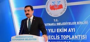 """Kırşehir Belediye Başkanı Yaşar Bahçeci: """"Parayı çöpe atıyoruz"""" Jeotermal Kaynaklı Belediyeler Birliği'nin Ekim ayı olağan meclis toplantısı Kahramanmaraş'ta yapıldı"""