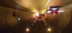 Tünelde yanan araç infilak etti Aydın-İzmir otoyolunda dehşet anları