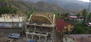 Beytüşşebap'ta Ulu Cami inşaatı tüm hızıyla devam ediyor