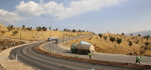 Şırnak'a 105 kilometrelik asfalt çalışması tamamlanma aşamasında