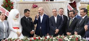 Bakan Soylu, Diyarbakır'da düğüne katıldı 56 çocuklu Hamo Ağa'nın torununun düğününde 12 büyükbaş ve 25 küçükbaş hayvan kesildi