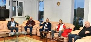 Vali ve Başkan'dan Samsunspor'a tebrik