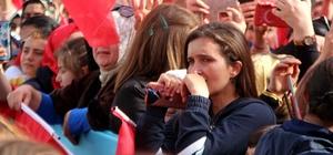 Başkan Erdoğan'ı görünce gözyaşlarını tutamadılar