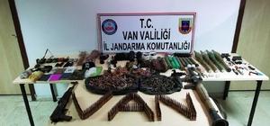 Van'da PKK'ya ağır darbe Erciş'te terör eylemlerinde kullanılmak üzere gizlenen çok sayıda mühimmat ele geçirildi