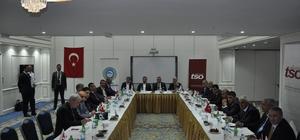 Doğu Anadolu ve Güneydoğu Anadolu Bölgesi; Ticaret Odaları ve Ticaret Borsaları Yönetim Kurulu Başkanları istişare toplantısı yaptı Toplantıya, Erzurum'u temsilen ETB Yönetim Kurulu Başkanı Hakan Oral katıldı