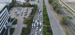 Sürücüler drone uygulamasından kaçamadı