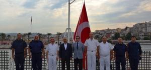 Bakan Yardımcısı Ersoy, Kuşadası Sahil Güvenlik Komutanlığında incelemelerde bulundu