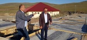Başkan Köksoy, inşaat çalışması devam eden Kesimhaneyi denetledi