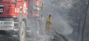 Hatay'da orman yangını sürüyor Yangının 15-20 hektarlık bir alanda hapsedildiği belirtildi