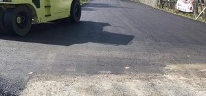 Pınarbaşı'nda sıcak asfalt çalışmaları başladı