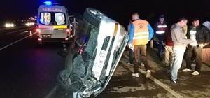 Samsun'da devrilen otomobil 140 metre sürüklendi: 3 yaralı