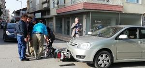 Otomobil ile elektrikli bisiklet çarpıştı: 2 yaralı