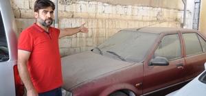 Mardin'deki toz bulutu oto yıkamacılara yaradı