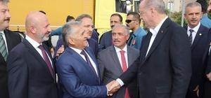 Başkan Memduh Büyükkılıç, Cumhurbaşkanı Recep Tayyip Erdoğan'a 7 yatırım hakkında bilgiler verdi