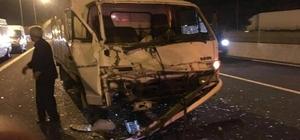 Nurdağı'nda iki kamyon çarpıştı: 1 yaralı
