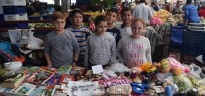 Çocuklardan sokak hayvanları için destek