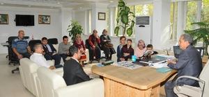 Görme engelli öğrencilerden Başkan Akkaya'ya ziyaret
