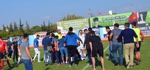 Maçın hakemi futbolcunun hayatını kurtardı Didim'de dili boğazına kaçan futbolcunun hayatını hakem kurtardı