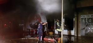 Nazilli'de lastik satış mağazasında korkutan yangın Lastik satış mağazasında çıkan yangın mahalleyi duman altında bıraktı