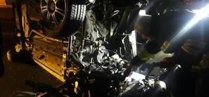 2.90 promil alkollü sürücü parçalanan otomobilden sağ çıktı