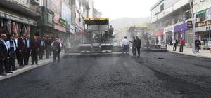 İstasyon Caddesi'nde ikinci kat asfalt çalışması