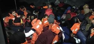 Didim'de 35'i çocuk 80 kaçak göçmen yakalandı