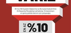 NTO'dan enflasyonla mücadele kampanyasına destek