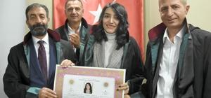 Erzurum Barosu'nda 19 hukukçu düzenlenen törenle ruhsatnamelerini aldı