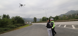 """Hatalı sürücüler """"drone""""dan kaçamadı"""