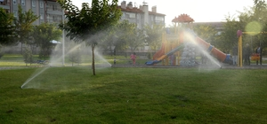 Isparta'da 3 ayda 50 bin metrekare otomatik sulama sistemli 22 park yapıldı