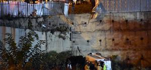 Kartal'da minibüs inşaat alanına düştü: 1 ölü