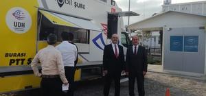 Mobil PTT aracı SGK İl Müdürlüğünde hizmet vermeye başladı