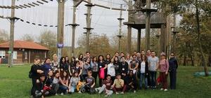 Yabancı öğrenciler Macerapark'a konuk oldu