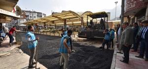 Karaköy pazar yerinde çalışmalar tamamlanıyor